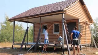 Модульный дом с верандой 6х6м (36м2)(Производственная Компания