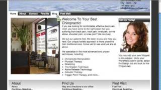Chiropractor2Web WordPress Theme Tour
