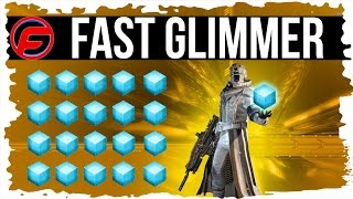 Destiny UNLIMITED GLIMMER FARM FAST GLIMMER FARM Farm 25,000 GLIMMER LESS than 1 hour SUPER FAST
