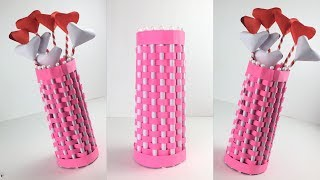 Easy Paper Flower  Vase | Paper Flower Vase | Paper Art | Flower Vase With Paper