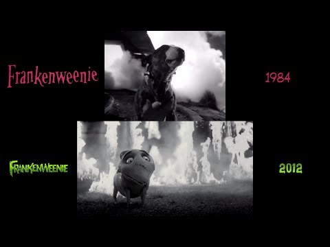Frankenweenie 1984 2012 Side By Side Comparison Youtube