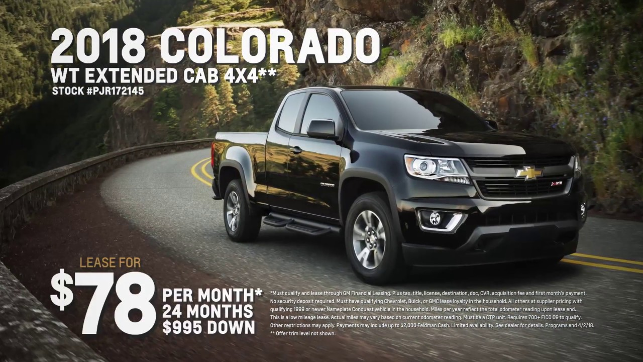 Chevrolet Lease Deals >> March Lease Deals Chevrolet Silverado Chevrolet Colorado