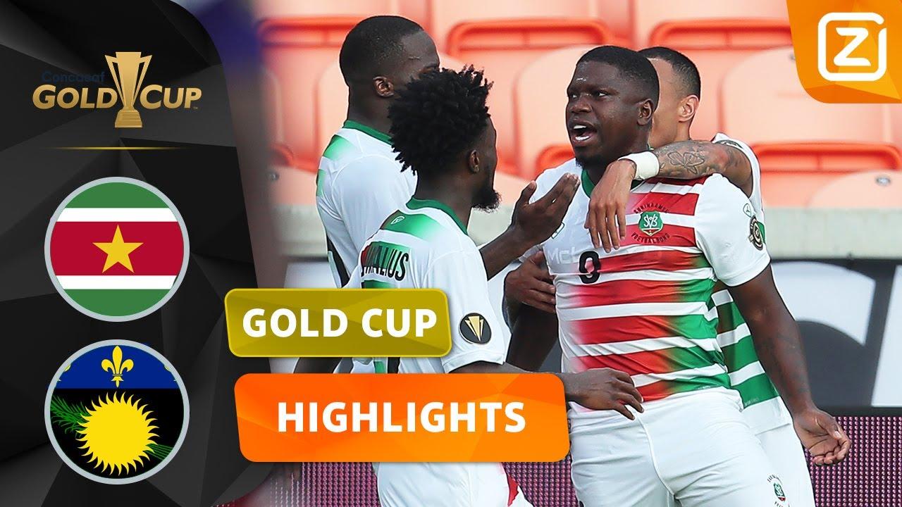 SURINAME NEEMT AFSCHEID MET OPGEHEVEN HOOFD 😎 | Suriname v Guadeloupe | Gold Cup 2021 | Samenvatting