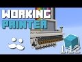 Minecraft: Working Printer 1.12 [Concrete Blocks]