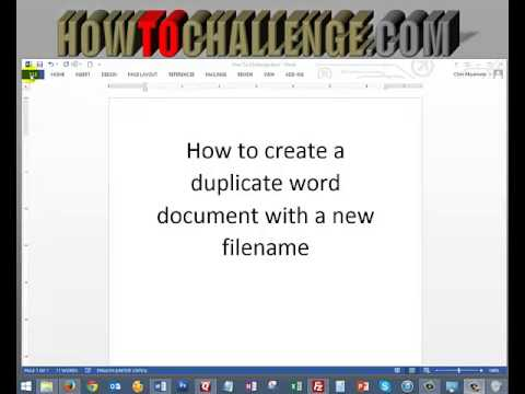 How to create a duplicate word document with a new filename youtube how to create a duplicate word document with a new filename reheart Gallery