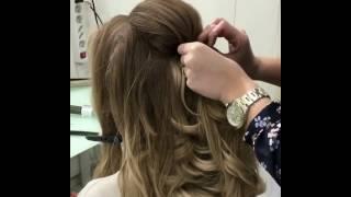 Наша фирменная греческая прическа в Эль Стиль @elstile - wedding hairstyle class at Elstile