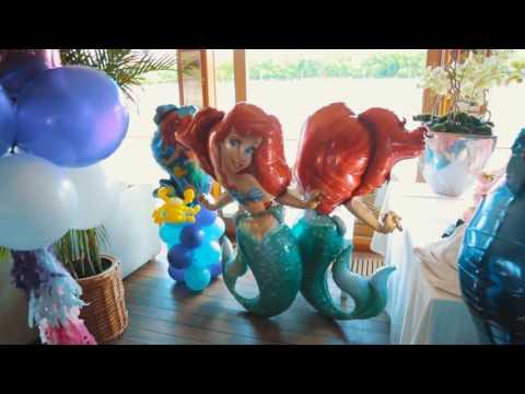Оформление шарами детского праздника в стиле Подводный мир