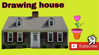 #USA Drawing house for kids | Learning to draw| របៀបគូររូប