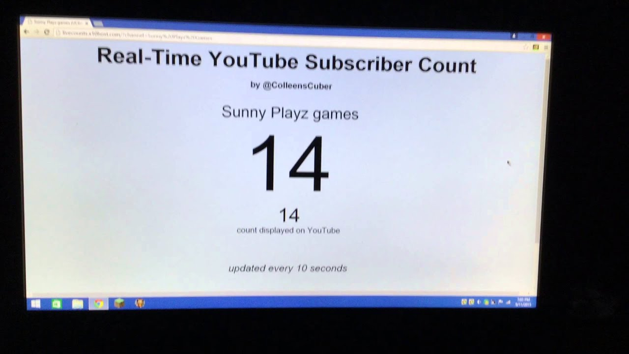 Real Time Subscriber Count Subscribe Youtube