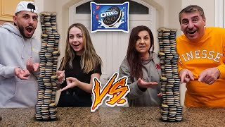 Build the Biggest Oreo Tower OR ELSE... **Loser Has to...**
