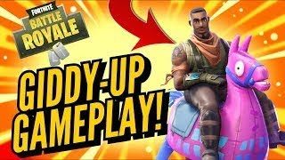 Fortnite gameplay with new GIDDY-UP Skin