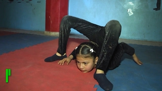 «Девочка паук» из сектора Газа мечтает покорить мир