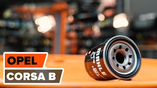 Montering Oljefilter OPEL CORSA B (73_, 78_, 79_): gratis video