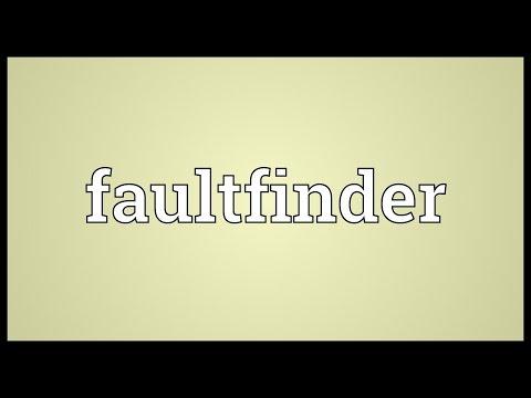 Header of faultfinder