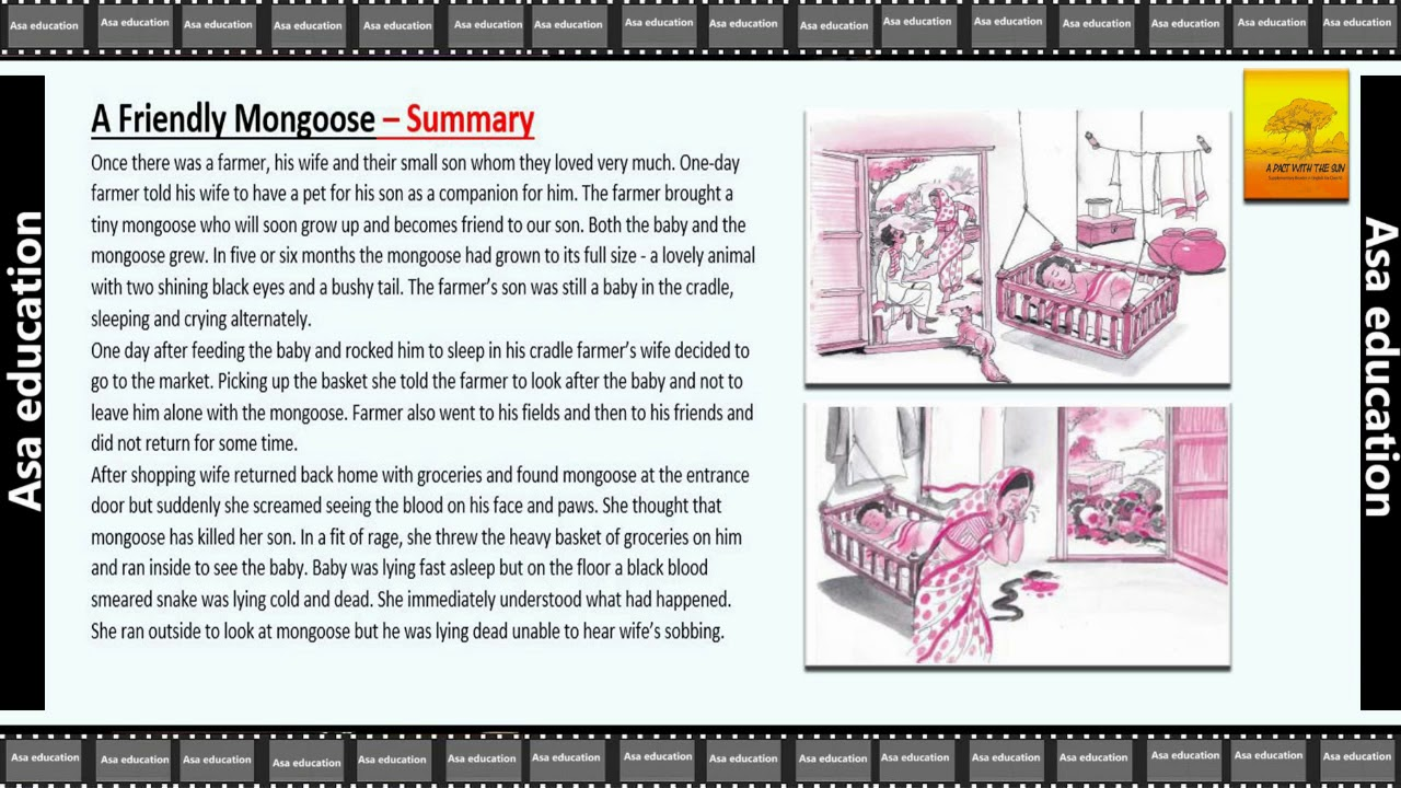 Ch 2 The Friendly Mongoose (English - A Pact With The Sun, Grade 6, CBSE)  Summary / Chapter in Brief