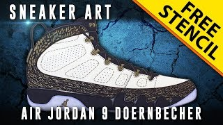 Sneaker Art: Air Jordan 9 Doernbecher w/ Downloadable Stencil