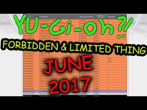 Emerjancy Ban list 2017 Yugioh! retraction Thing,.