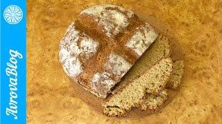 Пшенично-овсяный хлеб без закваски и дрожжей