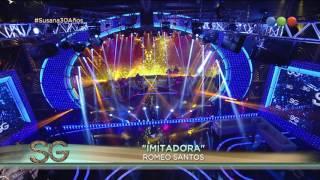 Romeo Santos cantó 34 Imitadora 34 Susana Giménez