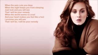 Adele -  Remedy -  Lyrics