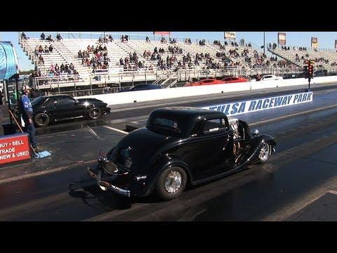PRO STREET Class Drag Racing  - Throwdown In T-Town - Tulsa Raceway Park