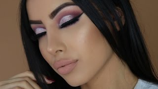 Fierce Purple Glitter Cut Crease | Gemma Isabella