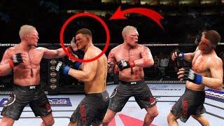 БРОК ЛЕСНАР ВЫРУБИЛ ПОЩЕЧИНОЙ СОПЕРНИКА в UFC 3 / BROCK LESNAR