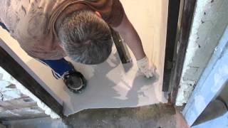 видео Полиуретановый наливной пол своими руками