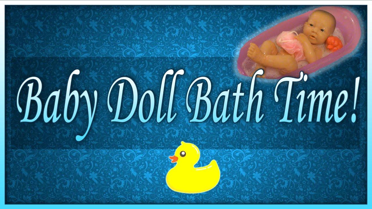 La Newborn Berenguer Baby Doll Gets A Bath| SimplyKattastic! - YouTube
