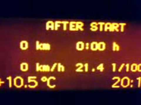 w203 c240 cold startup and fuel consumption - youtube