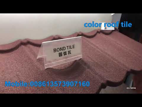Building Roofing Materials Stone Coated Steel Roof Tiles