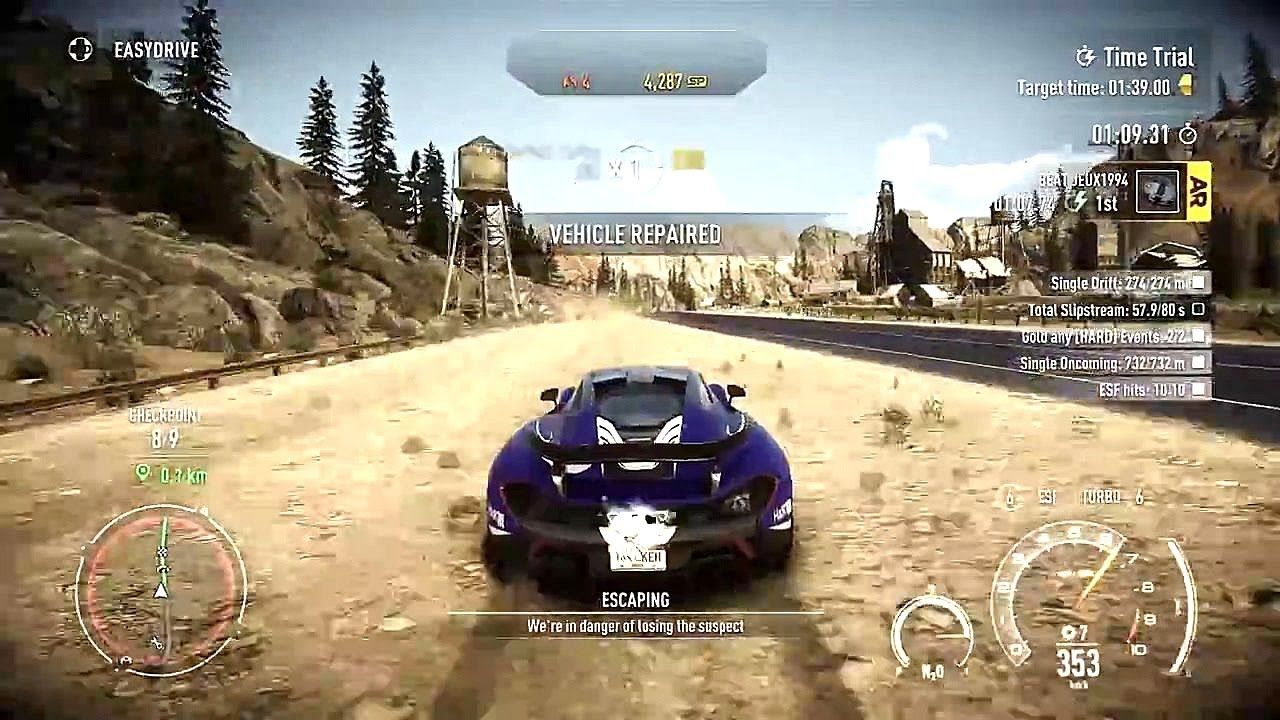 how to start time trial in nfs rivals