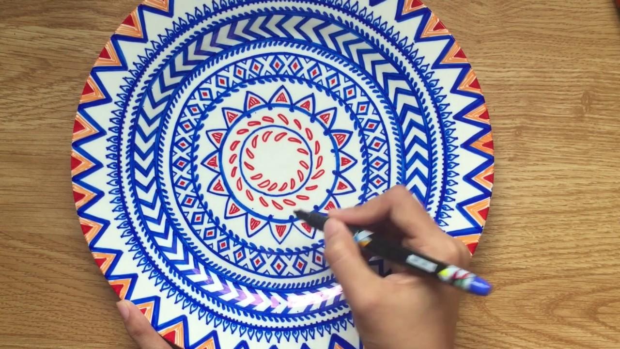 Mandala On Plate Wall Decor Diy Easy Hacks Youtube