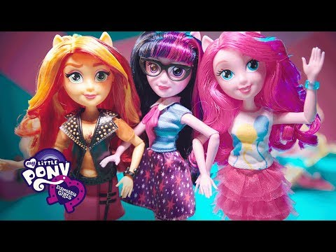 My Little Pony: Equestria Girls - Sunset Shimmer, Rainbow Dash, Pinkie Pie&Twilight Sparkle Dolls