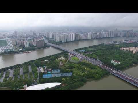 Rainy Guangzhou Shot by DJI Phantom 4 - Kiwi Team - Mesh