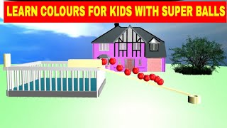 Colors for Children to Learn with Toy Super balls with Color Water Sliders for Kids,