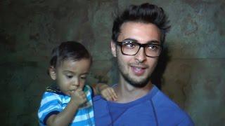 CUTE Baby Ahil Watches Baahubali 2 With Father Aayush Sharma