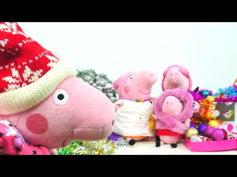 Видео про игрушки. Игра: Свинка Пеппа и елочные игрушки к Новому Году! Игры для детей 2