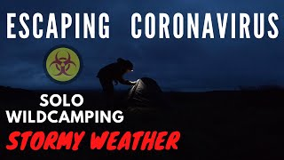 Escaping Coronavirus ! S๐lo Stormy Wild Camping in an old Vango Tent on the Moors