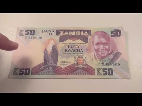 1986 Fifty Kwacha note from Zambia