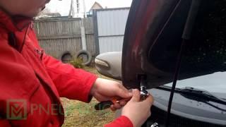 Установка амортизаторов упоров капота для Hyundai ix35 арт. KU HY IX35 02 от upory.ru смотреть