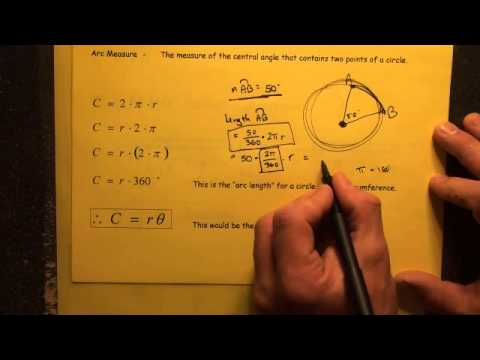 #168 Distance Between Two Points on a Circle Arc Length ...