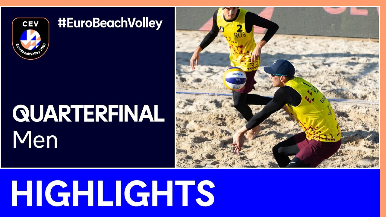 Krattiger/Breer vs Liamin/Myskiv Quarter-Finals Highlights - EuroBeachVolley 2020 Men