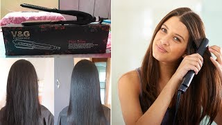 Best Hair Straightener V amp G Straightener Review amp Demo Flat Iron