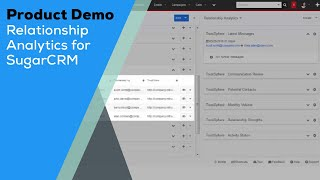 Product Demo - Relationship Analytics for SugarCRM