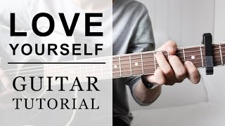 Justin Bieber - Love Yourself FAST Guitar Tutorial   EASY Chords