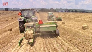 2019 Straw Baling Tractor Action