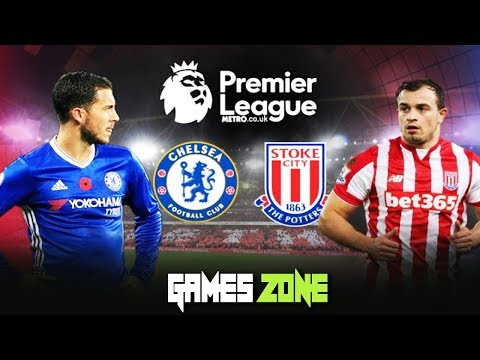 Chelsea V Stoke City | Full Match | English Premier League| 🎮Games Zone!!