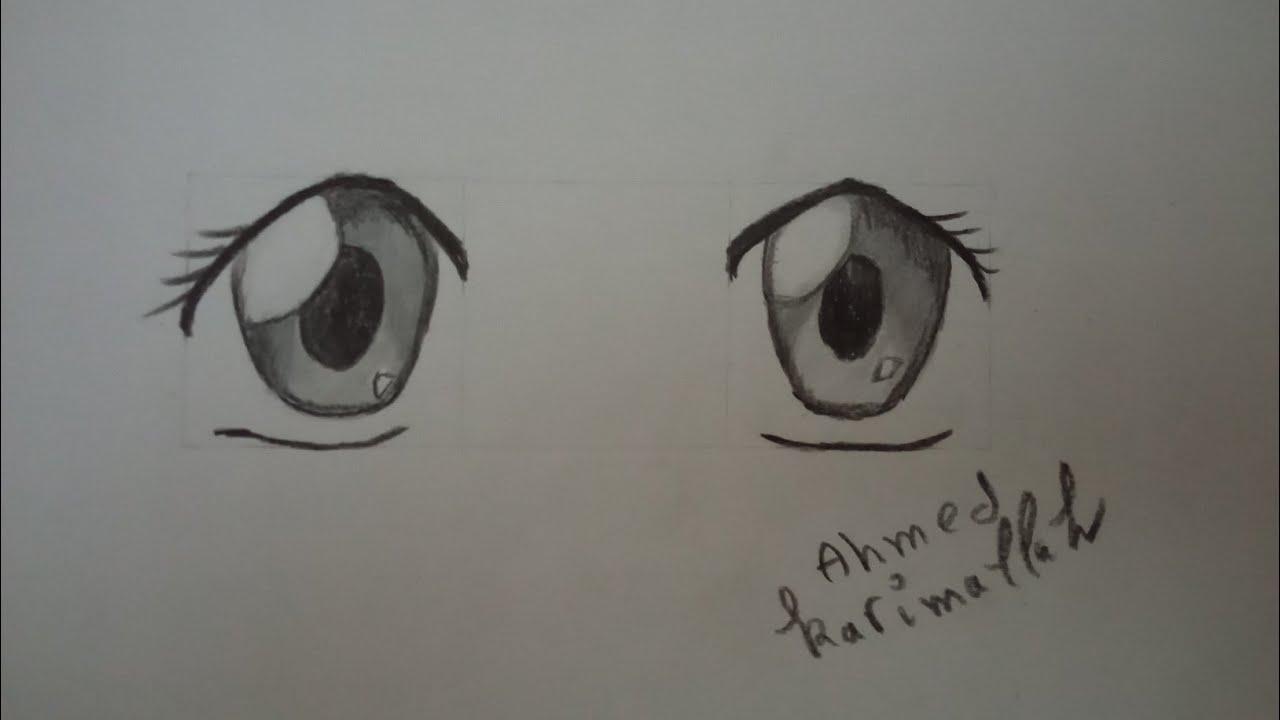 How To Draw Eyes Anime تعلم رسم عيون الانمي للمبتدئين Youtube