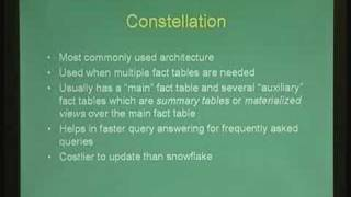 Lecture - 31 Introduction to Data Warehousing nad OLAP